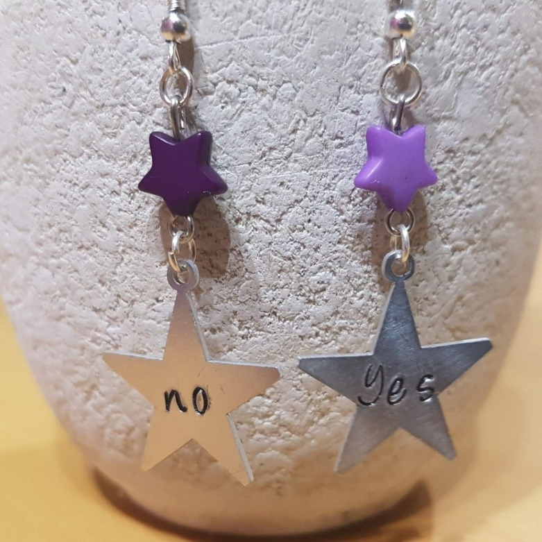 boucles d'oreilles YES - NO